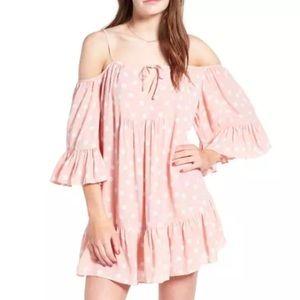 Tularosa Blush Polka Dot Hattie Shift Dress Sz XS